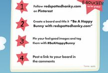Be A Happy Bunny with redspottedhanky.com