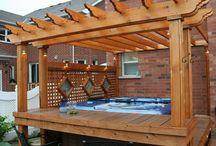 Hot tub in the garden ideas