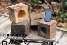 RAD BLOCK | Reclaimed Acoustic Docking System / Introducing the RAD Block, our Reclaimed Acoustic Docking System. Made from locally sourced reclaimed wood. This powerless docking system naturally amplifies your iPhone's external speaker to create a fuller, louder more enjoyable listening experience.                   Simple. Smart. Sound.  MCSWCo. / by Mono Centre Salvage & Wood Co.