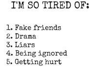 Different Moods/Feelings/Relationships