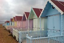 The English Seaside / Love the British summer, strawberries, 99's, bucket and spades, beach huts, blustery beaches.
