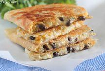 Three Cheese quesadilla with Black Bean