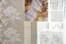 filetové vzory / háčkování