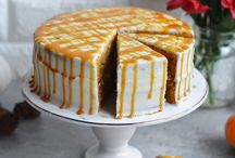 Festive Pumpkin Cake with Maple Cream Cheese Frostng