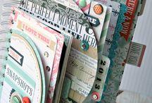 Decorating mini scrapbooks