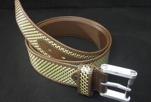 Belt / Our first #belt, made with leather and hybrid of carbon fibre and Kevlar, can be also be wear on both sides. The buckle is made with special alloy of aluminium used in aerospace appliances, and manufactured with CNC machining