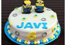 Tarta-Galletas-Cupcakes - Minions / Tarta minions para celebrar el cumpleaños de un niño de 6 años.