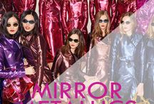 Mirror Metallics / We love metallics this season, they easily make an outfit go from daytime to after dark...