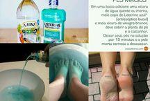 limpeza dos pés