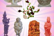 The Inner Goddess / Goddess Statues and the Inner Spirit and Beauty that lies within