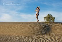 Siluet YOGA WEAR  on Death Valley / Amazing photos of Collections JUNGLE, COMICS and GOLDEN CHAMPAGNE.. Photo: Jana Wallace