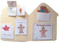 Gingerbread Man preschool and kindergarten crafts, activities, printables