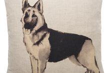 German Shepherds / Visit Nikki Szabo's website www.nikki-szabo.co.uk for lots of fabrics for dog lovers!