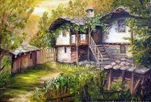 landschap tekenen / schilderen