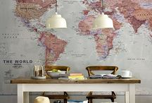 For The Love Of Maps / Ideas to decorate with new and vintage maps