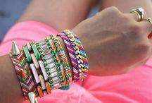 DIY Armbänder  / selbst gemachte Armbänder - schön und bunt für den Sommer!!