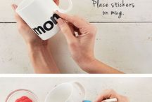 Mugs painted diy