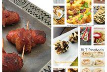 Bacon Dishes / A Bacon Board – full of recipes involving bacon.