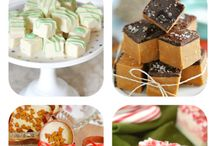 Christmas Treats / All things sweet during the Holidays!  Christmas dessert, dessert, fudge, Christmas cookies, Christmas treats, cakes, cookies, recipes, hot cocoa, peppermint, gingerbread, chocolate, eggnog, pretzels, cookie bars, winter.