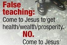 """Prosperity Gospel Heresy / Other code words to be weary of: """"Living in Abundance,"""" """"Claiming Abundance."""" """"Declaring Your Wealth,"""" """"Manifesting your wealth,"""" """"attracting money"""" or most terms related to the unbiblical Law of Attraction."""