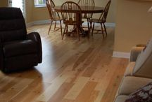 Burlington Home Project / The hardwood floors in this album are stained Hickory and perfectly complements the interior of this home.