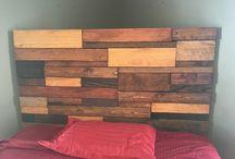 Wood Furniture / Headboard - Homemade