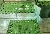 tapete de barbante verde