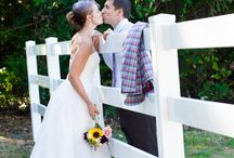 Homespun wedding / Vintage & clever.  Cute & happy.  Fun wedding photos by Red Fish Blue Fish Photography.