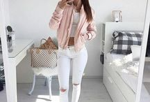 bomber rosa outfit