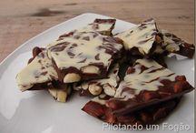 chocolate com amendoim