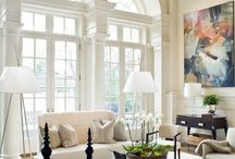 High ceiling lounges