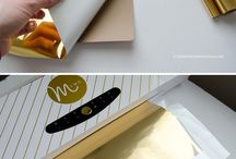 Foiling cards with Minc machine