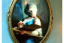 """Alice-May-Mouse-House / So titled, from days past, I was fondly called """"Alice-May"""". As my love for dolls and the doll house my father built for me grew...the name turned into the Alice-May-Mouse-House....... / by Alice Cicek"""