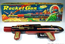 Space & Ray Guns Tin Toys / Vintage Space Guns - Ray Guns