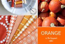Orange is the happiest color! / Sulky Garne Farben Inspirationen