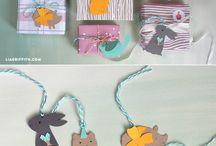 Animal gift tag