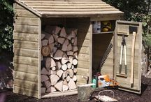 Log hut and garden tool shed