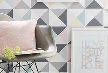 papier peint polygone multicouleur