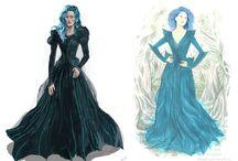 Fashion sketches/palettes