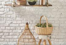 Parede de Tijolinhos I Decoração / Parede de tijolinhos para mudar a decoração da casa! Confira outras dicas em: zapemcasa.com.br
