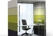 """Air3 Meeting Pods / 'Why build walls?', the Air3 Meeting Pod and the Air3 Minipod by Orangebox are """"an enclosed room system that's flexible, scalable and movable - where you transform the temporary and make it feel permanent"""". The greatest solution to create private areas within open-space office environments. / by Après Furniture"""