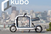 "Our Vehicles: kubo / kubo is a unique, fun way to get around the city. This ""pickup truck on two wheels"" can carry anything you need, from your daily necessities to a new iMac. And it's 100% electric! / by Lit Motors"