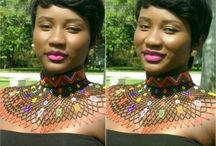 African Beads Necklace Choker
