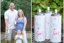 Gender Reveal Ideas / Whether via photo or party, genius ideas on how to reveal the gender of your little one to friends and family. Gender reveal ideas #babyshower , #baby #babybump