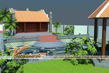 Thiết kế nhà thờ họ kết hợp sân vườn rộng / Mẫu nhà thờ họ kết hợp sân vườn rộng gần 1000m2 tại Hải Phòng. http://thietkenhathoho.vn/