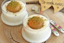 aşevi:sütlü ve şerbetli tatlılar