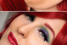 Mermaid hair & makeup