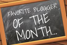 My Favorite Bloggers / At the end of each month, I choose a new favorite blogger over on my own blog and then pin them here!