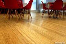 Sàn tre Ali ép khối màu tự nhiên / Một số hình ảnh công trình lắp đặt sàn tre ép khối màu tự nhiên