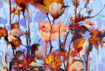 Flower Art  Paintings by Intuitive Artist Joan Fullerton / Flower Art  Paintings by Intuitive Artist Joan Fullerton